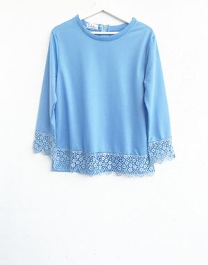 DINDA LACE SHIRT IN BLUE