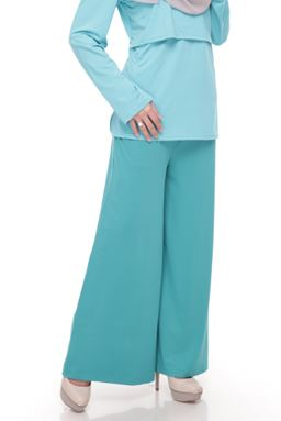 Palazzo (Petronas Green) Maternity Friendly with Adjustable Waistband (S, M, XXL)
