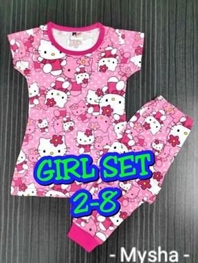 Pyjamas HELLO KITTY CUTE PINK : Kids 2- 8