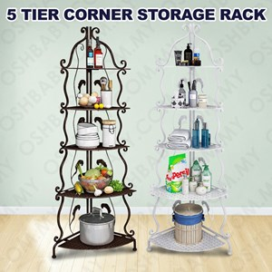 5 TIER CORNER STORAGE RACK
