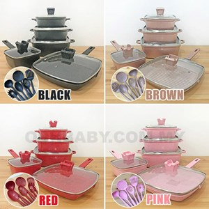 16pcs Unique Cookware Set (PRE ORDER) ETA 10 Aug 20