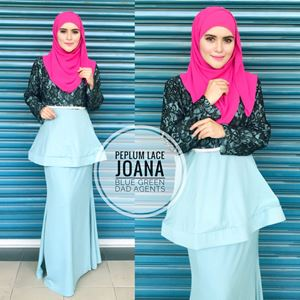 Peplum Lace Joana Blue Green