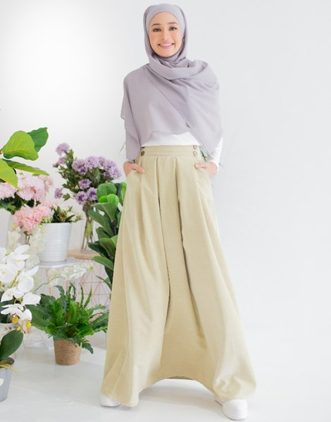 ALICE CORDUROY SKIRT IN PALE OLIVE