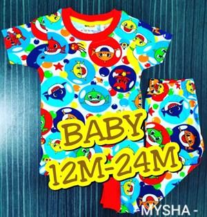 Pyjamas SHARK BUBBLE  : BABY size 12m -24m