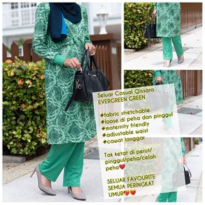 Casual Pant - EVERGREEN GREEN - (Maternity Friendly)