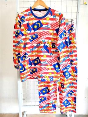 SIZE XL DEWASA   Pyjamas MALAYSIA DESIGN 1