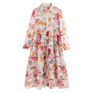BIG FLOWERS PRINTED DRESS