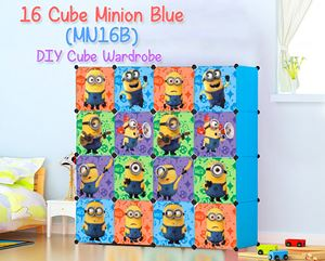 Minion 16 Cube Blue DIY Wardrobe (MN16B)