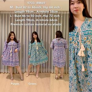 9733 Ready Stock *Bust 42 to 50 inch/ 106-127cm