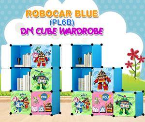 ROBOCAR BLUE 6C DIY WARDROBE (PL6B)