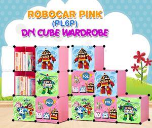 ROBOCAR PINK 6C DIY WARDROBE (PL6P)