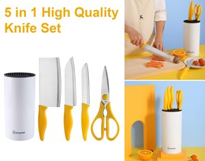 IVEA 5 in 1 High Quality Knife Set Pisau set
