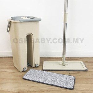 Easy Clean Pad Hand free washing rotating Mop with bucket