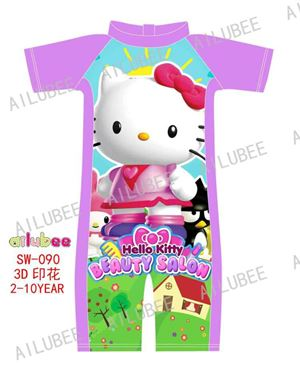 SW090 AILUBEE KITTY SWIMMING SUIT ( SZ 2-10Y ) ETA
