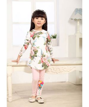 Girl Clothing Set - White Flower