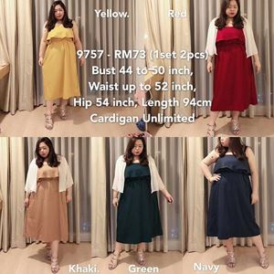 9757 Ready Stock *Bust 44 to 50 inch/ 112-127cm