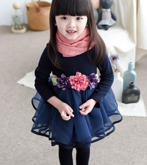 NAVY BLUE DRESSES WITH FLOWER