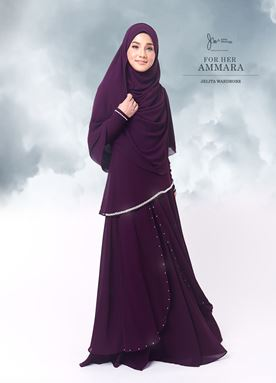 Jubah Ammara For Her (Violet Purple)