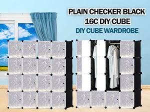 Plain Black 16C DIY WARDROBE (PB16)