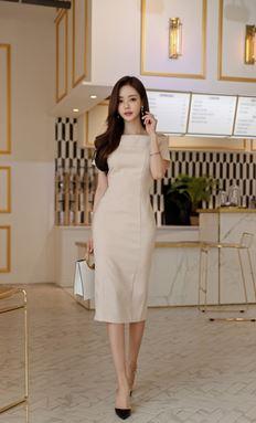 Apricot Off Shoulder Dress