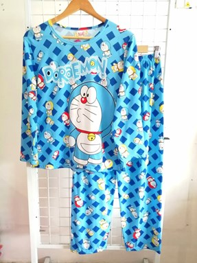 Pyjamas Dewasa Mix Light Blue Doraemon