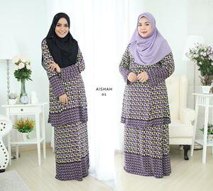 Baju Kurung Aisyah (A01) S - 4XL