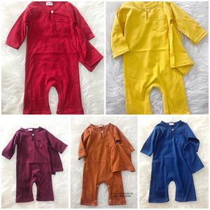 Baby Rompers Berkopiah ( Deep Yellow and Red Color only)