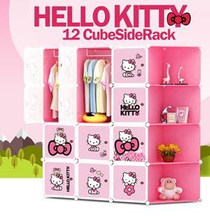 Hello Kitty 12C DIY Cube w Corner Rack (KT12CR)