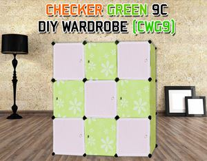 CHECKER GREEN 9C DIY WARDROBE (CWG9)