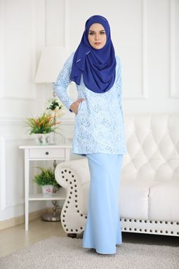 RAISHAH LACE - BABY BLUE