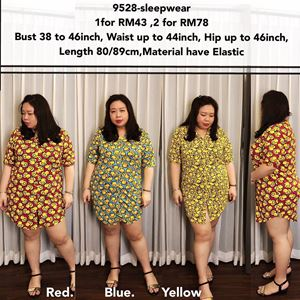9528  Ready Stock *Bust 38 to 46inch / 96-118cm