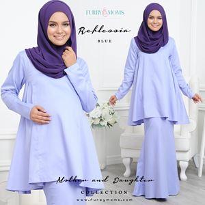 Reflessia Kurung - Blue