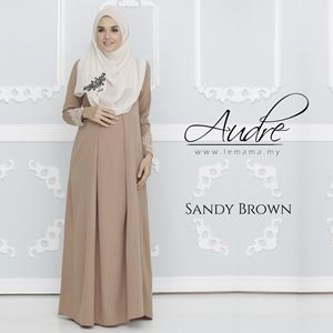 Audre Lacey Dress : Sandy Brown