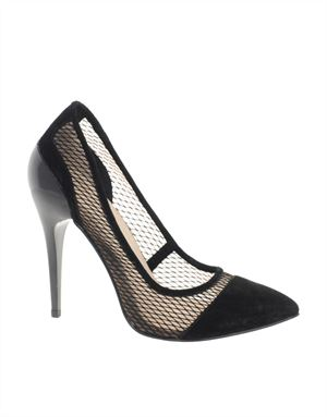 PRESSED Pointed High Heels with Suede Detail