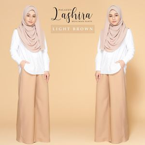 PALAZZO LASHIRA - LIGHT BROWN