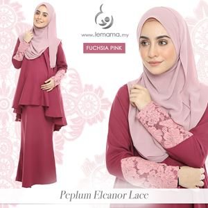Peplum Eleanor Lace : Fuchsia Pink