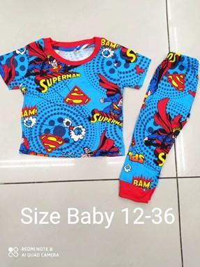 Pyjamas SUPERMAN SUPER HERO : BABY 12M