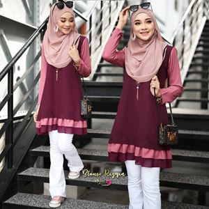 BLOUSE RIZQIN - MAROON PINK