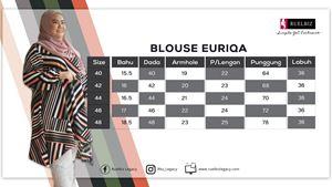 BLOUSE EURIQA(tunic).  (SAIZ 40 HINGGA 48)