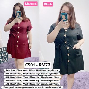 CS01 Ready Stock*Bust 43 to 58 inch/ 108-148cm