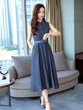 Korean Sleeveless Denim Dress