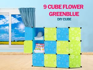 Flower Checker BlueGreen 9C DIY Cube (FBG9)