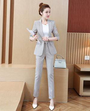 Two-piece Autumn Women's Office-Wear (Coat + Pants)