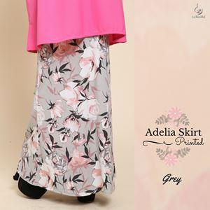 Adelia Skirt Printed : Grey