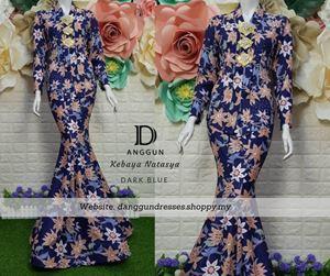 Kebaya Batik Natasya Dark Blue