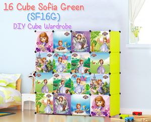 Sofia Green 16 Cube DIY Wardrobe (SF16G)