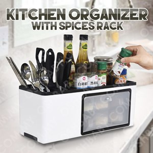 KITCHEN ORGANIZER WITH SPICES RACK