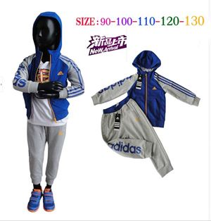 **   D5804 ADIDAS BLUE GREY TRACKSUIT SET  **