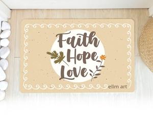 Floor Mat - Faith hope love