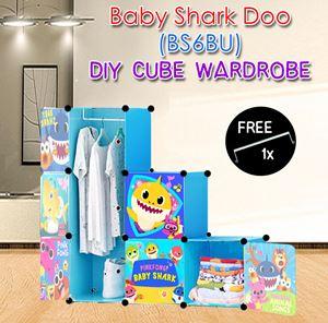 Baby Shark Doo BLUE 6C DIY WARDROBE Free 1x Hanger (BS6BU)
